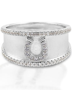 Kelly Herd Women's Horseshoe Bracelet, Silver, hi-res