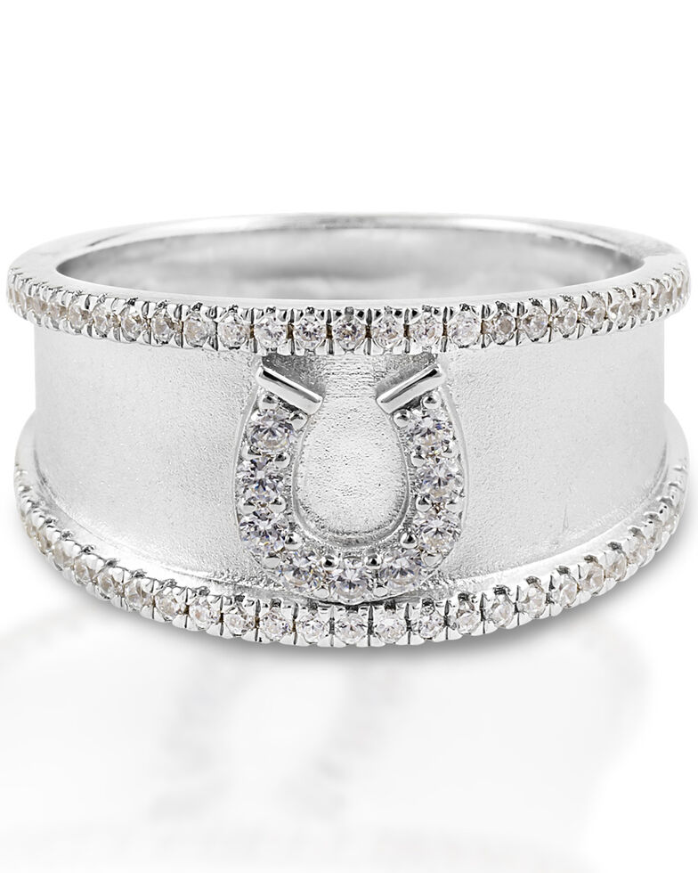 Kelly Herd Women's Horseshoe Bracelet, Silver, hi-res