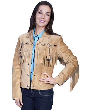 Scully Women's Suede Leather Fringe Jacket - Plus, Rust Copper, hi-res