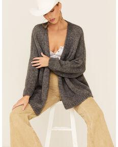 Elan Women's Rock & Love Knit Cardigan, Charcoal, hi-res