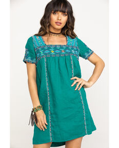 Johnny Was Women's Rich Emerald Amaris Tulum Tunic Dress, Green, hi-res