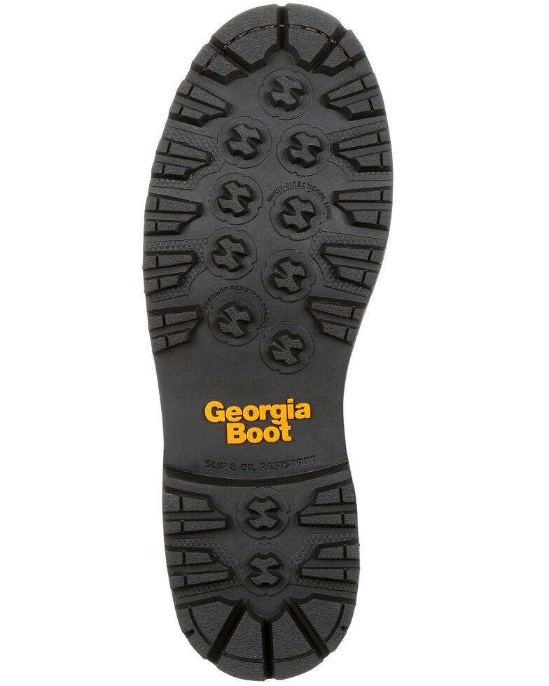 Georgia Boot Men's Amp LT Waterproof Low Heel Work Boots - Composite Toe, Brown, hi-res
