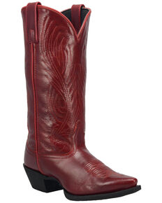 Laredo Women's #TBT Western Boots - Snip Toe, Red, hi-res