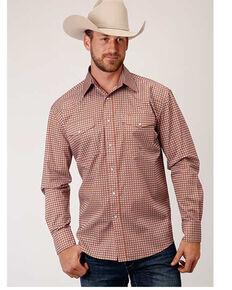 Roper Men's Purple Paisley Print Long Sleeve Snap Western Shirt , Purple, hi-res