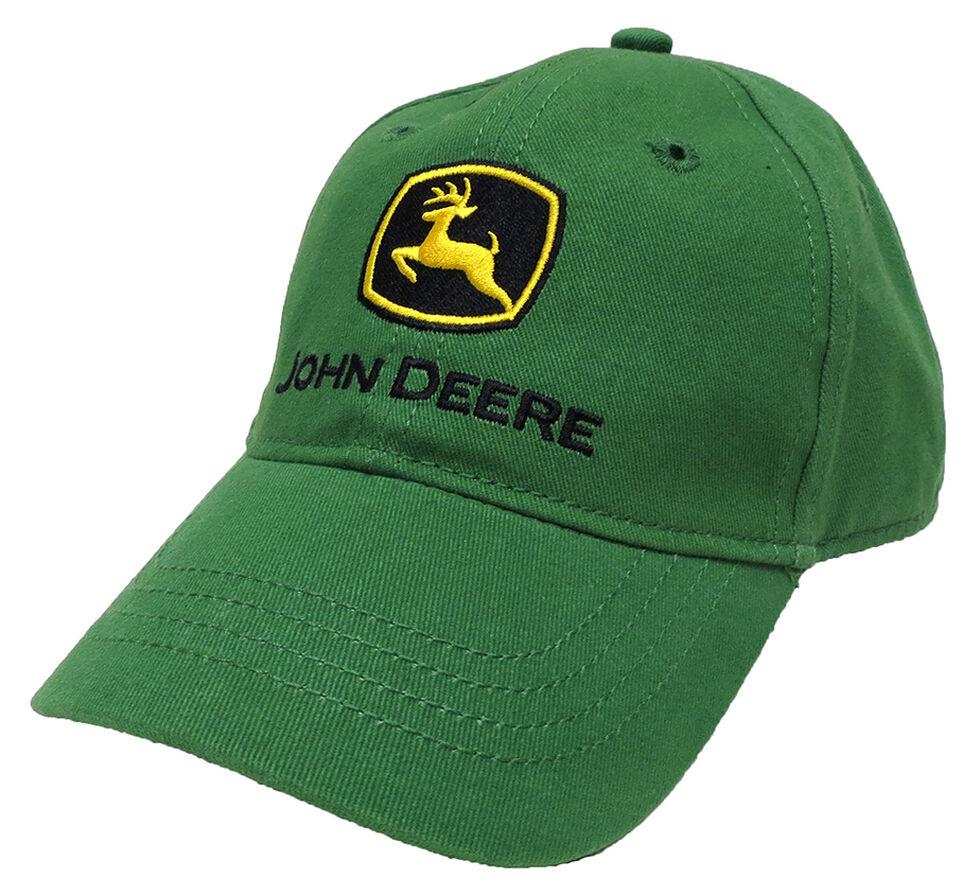John Deere Youth Boys' Trademark Green Baseball Cap, Green, hi-res