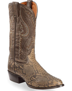 e4d4a56d5978 Dan Post Omaha Python Cowboy Boots - Medium Toe.  299.95. Dan Post Mens  Natural Poison Rattlesnake Boots - Square ...