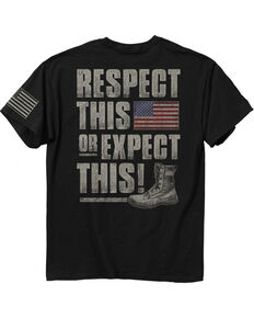 Buck Wear Men's Black Respect This Tee , Black, hi-res