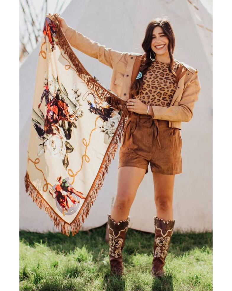 Rodeo Quincy Women's Salinas Wild Rag Scarf, Ivory, hi-res