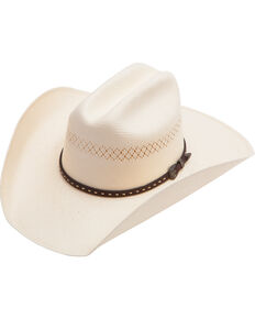 Cody James Men's Vented Straw Cowboy Hat, Natural, hi-res