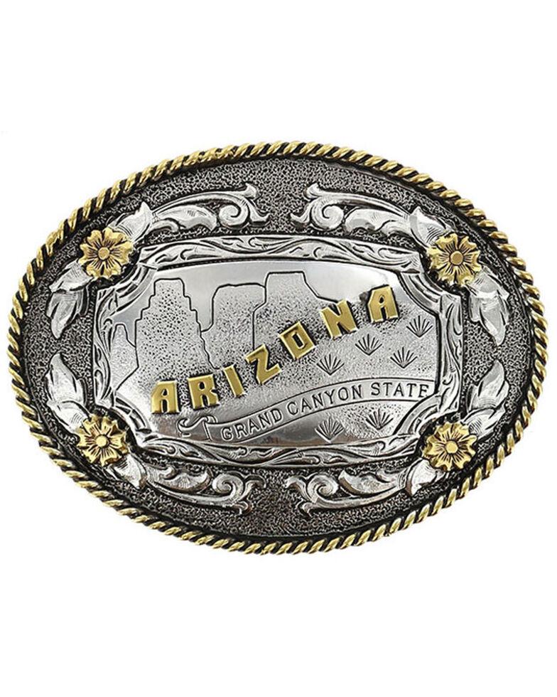 Cody James Men's Antiqued Oval Arizona Belt Buckle, Multi, hi-res