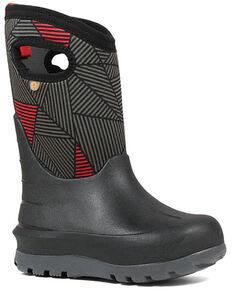 Bogs Boys' Neo-Classic Winter Boots - Round Toe, Black, hi-res