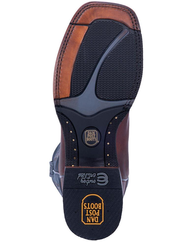 Dan Post Men's Winslow Western Boots - Wide Square Toe, Brown/blue, hi-res