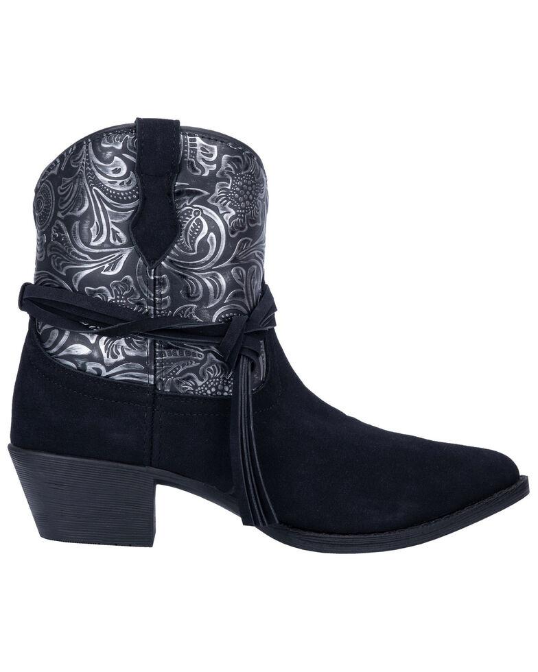 Dingo Women's Valerie Fashion Booties - Round Toe, Black, hi-res