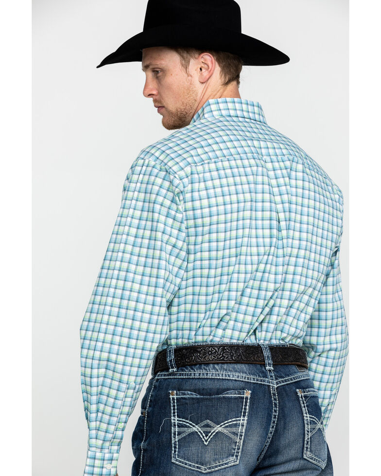 Cinch Men's Cream Med Plaid Long Sleeve Western Shirt , Cream, hi-res
