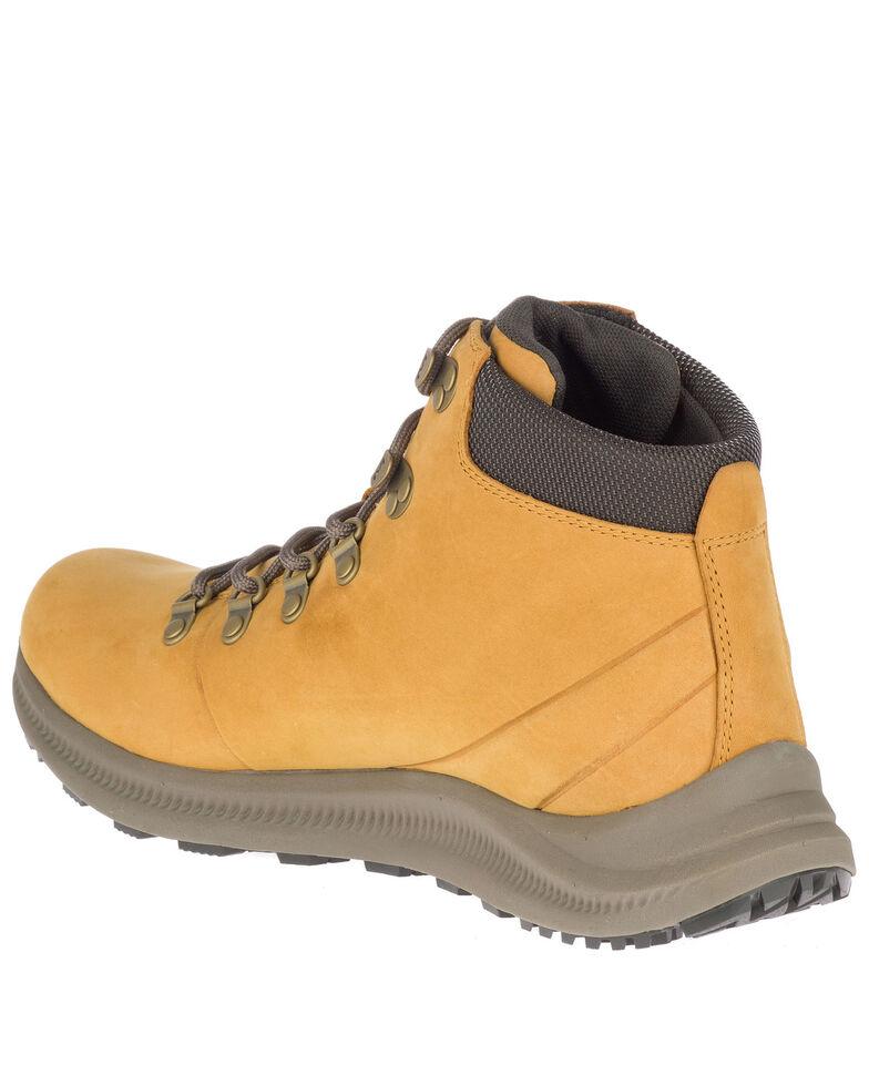 Merrell Men's Tan Ontario Waterproof Hiking Boots - Soft Toe, Tan, hi-res