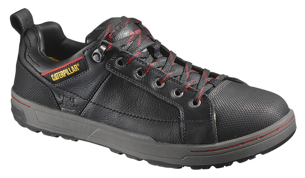 Caterpillar Brode Oxford Work Shoes - Steel Toe, Black, hi-res