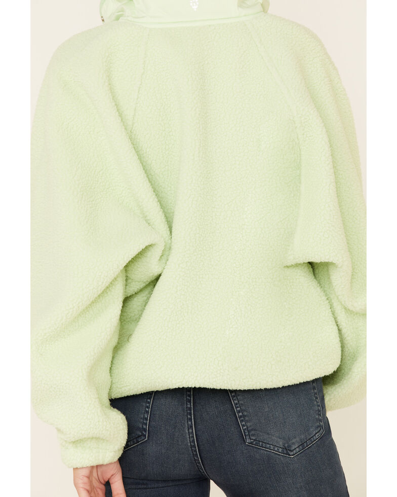 Free People Women's Hit The Slopes Pullover, Light Green, hi-res