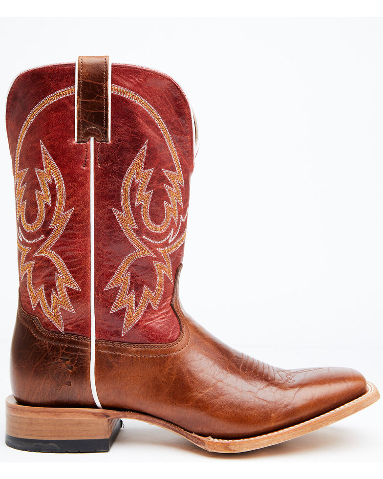 Cody James Men's Camden Western Boots - Wide Square Toe, Red, hi-res