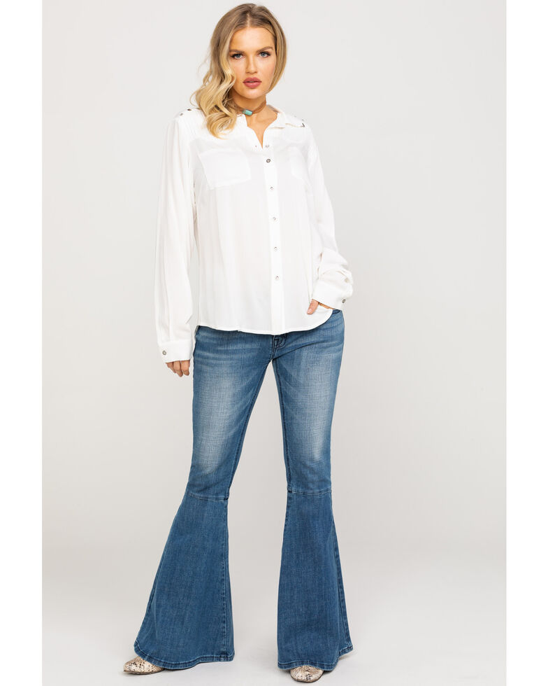 Ariat Women's Pretty Please Shirt, White, hi-res