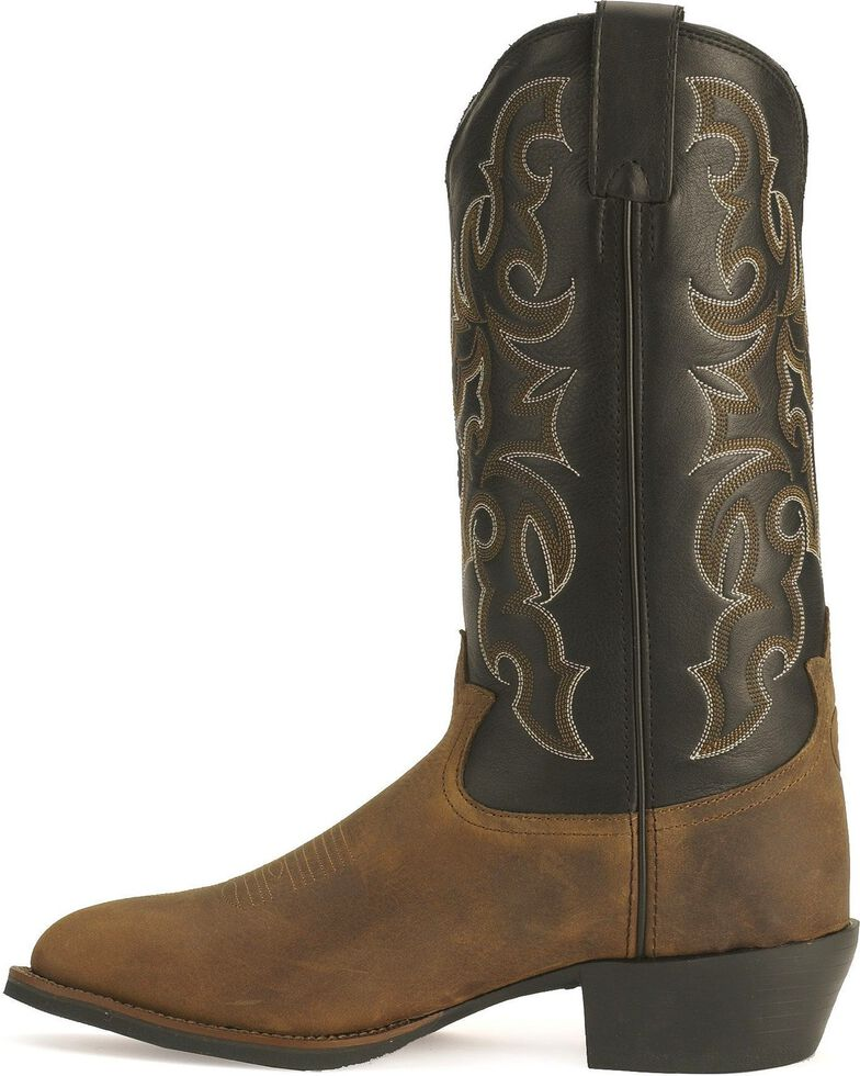 Tony Lama Men's 3R Cowboy Boots - Medium Toe, Walnut, hi-res