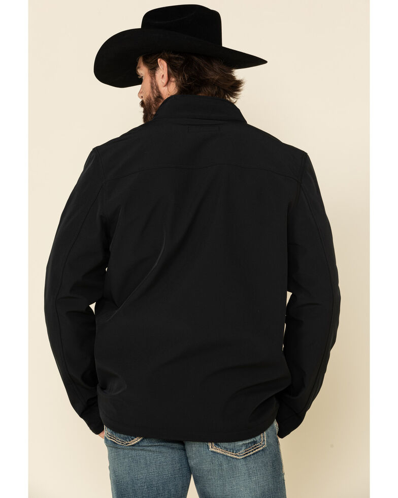 Cody James Core Men's Black Steamboat Soft Shell Bonded Jacket , Black, hi-res