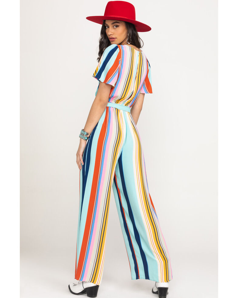 Flying Tomato Women's Multi Stripe Jumpsuit, Multi, hi-res