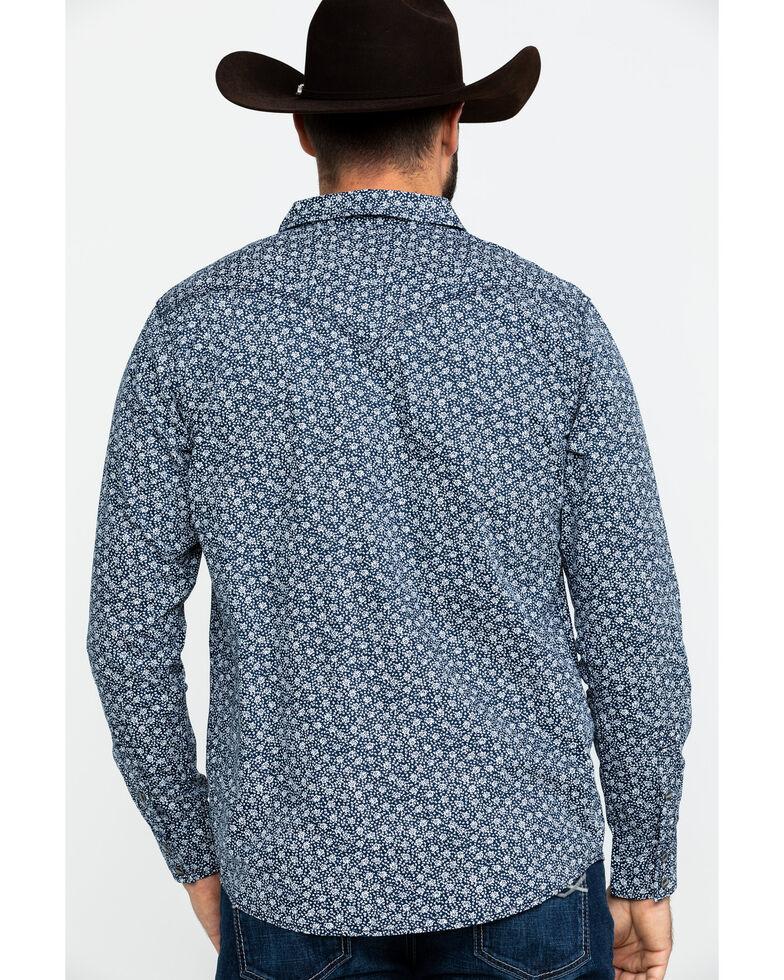 Moonshine Spirit Men's Viper Room Floral Print Long Sleeve Western Shirt , Navy, hi-res