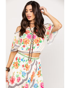 17f9f4e2cab74 Flying Tomato Women s Off Shoulder Floral Top