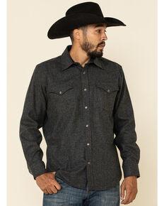 Pendleton Men's Grey Canyon Solid Long Sleeve Western Shirt , Grey, hi-res