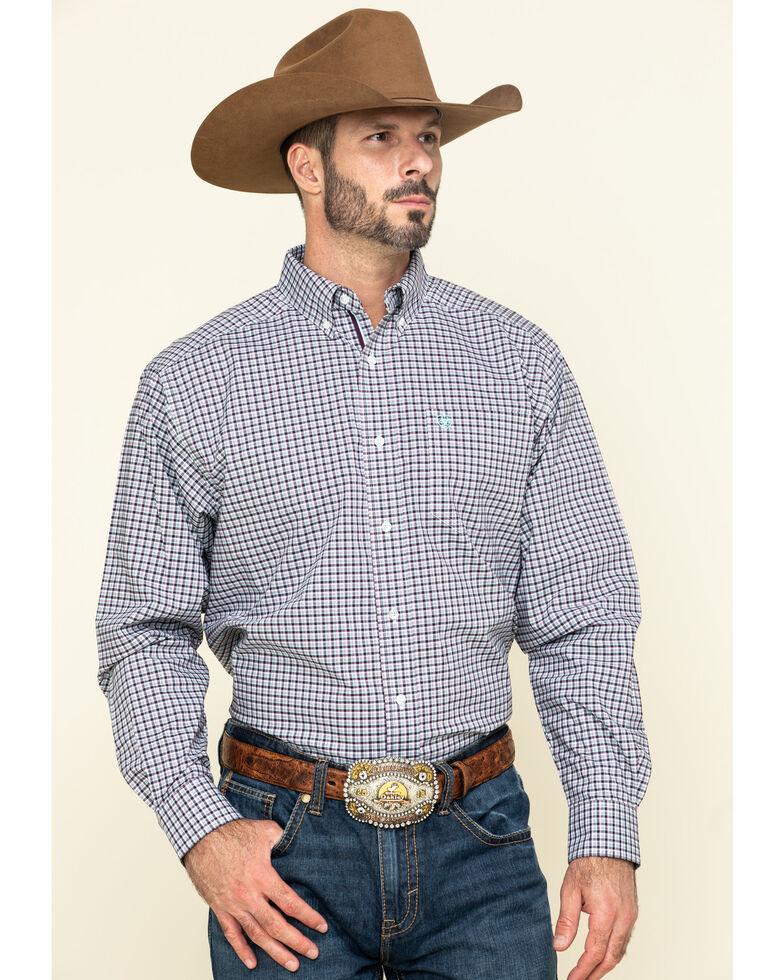 Ariat Men's Ridgefield Stretch Small Plaid Long Sleeve Western Shirt - Big , Multi, hi-res