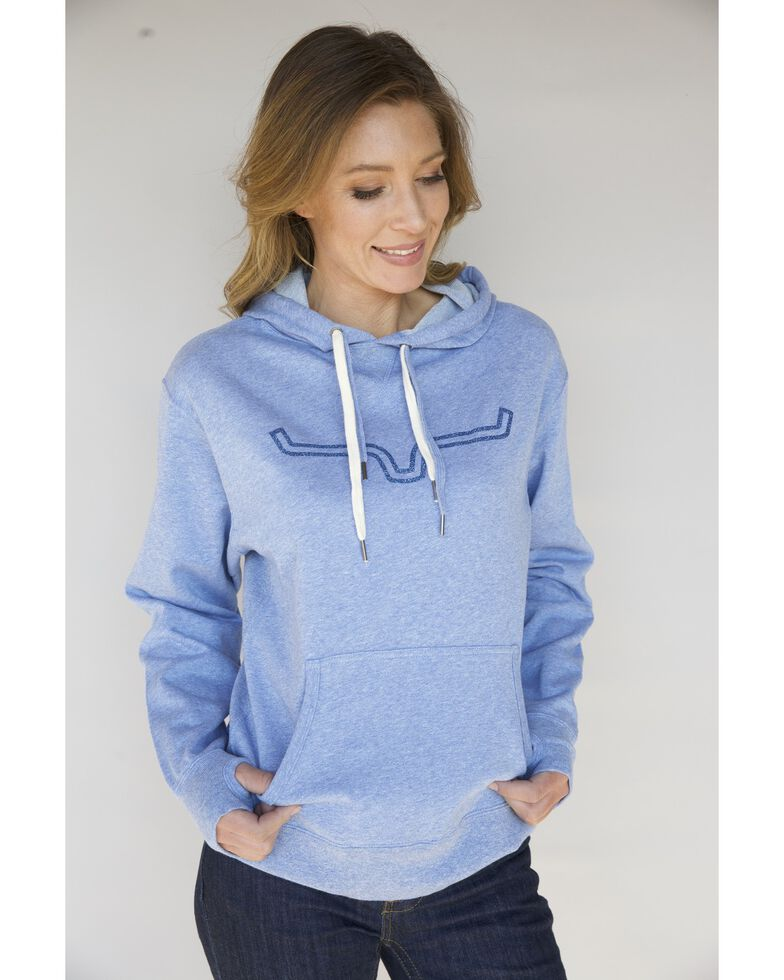 Kimes Ranch Women's Stardust Glitter French Terry Hoodie, Blue, hi-res