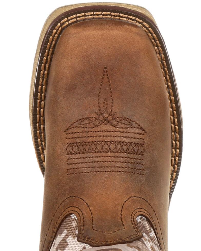 Durango Boys' Lil Rebel Desert Camo Western Boots - Square Toe, Brown, hi-res