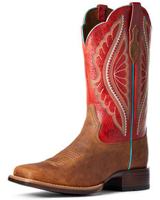 Ariat Women's Primetime Trail Western Boots - Wide Square Toe, Brown, hi-res