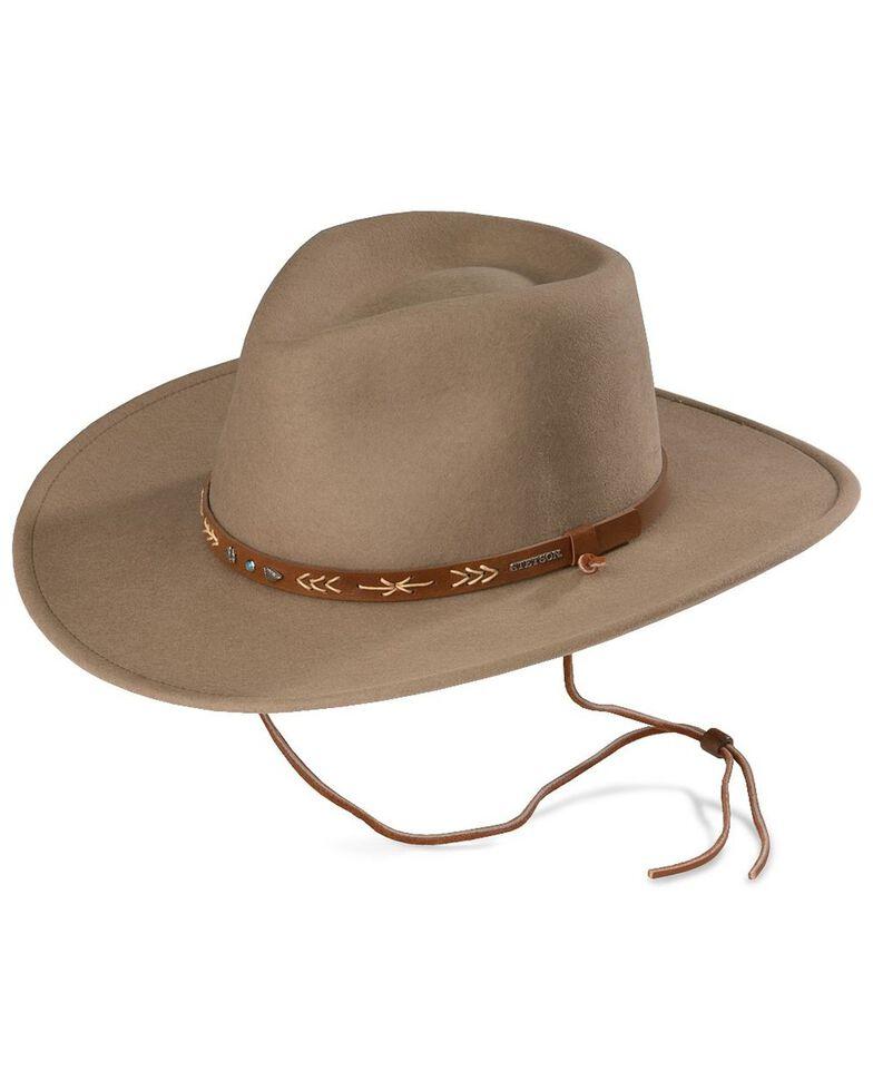 Stetson Men's Santa Fe Crushable Wool Felt Hat, Mushroom, hi-res