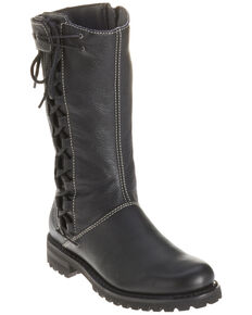Harley Davidson Women's Melia Moto Boots - Round Toe, Black, hi-res
