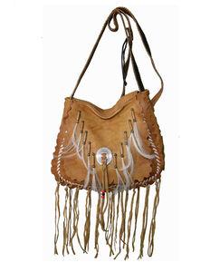 Kobler Leather Women's Navajo Crossbody Bag, Tan, hi-res