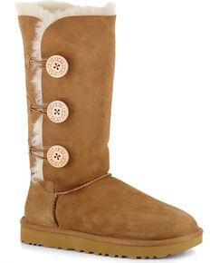 UGG Women's Bailey Button Triplet II Water Resistant Boots, Chestnut, hi-res