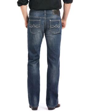 Rock & Roll Cowboy Men's Reflex Pistol Straight Leg Jeans, Blue, hi-res