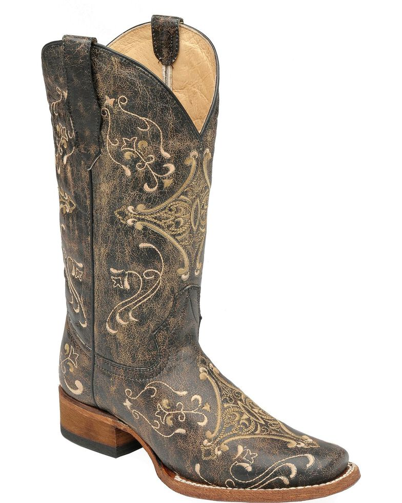0b35e5f4317 Circle G Diamond Embroidered Cowgirl Boots - Square Toe