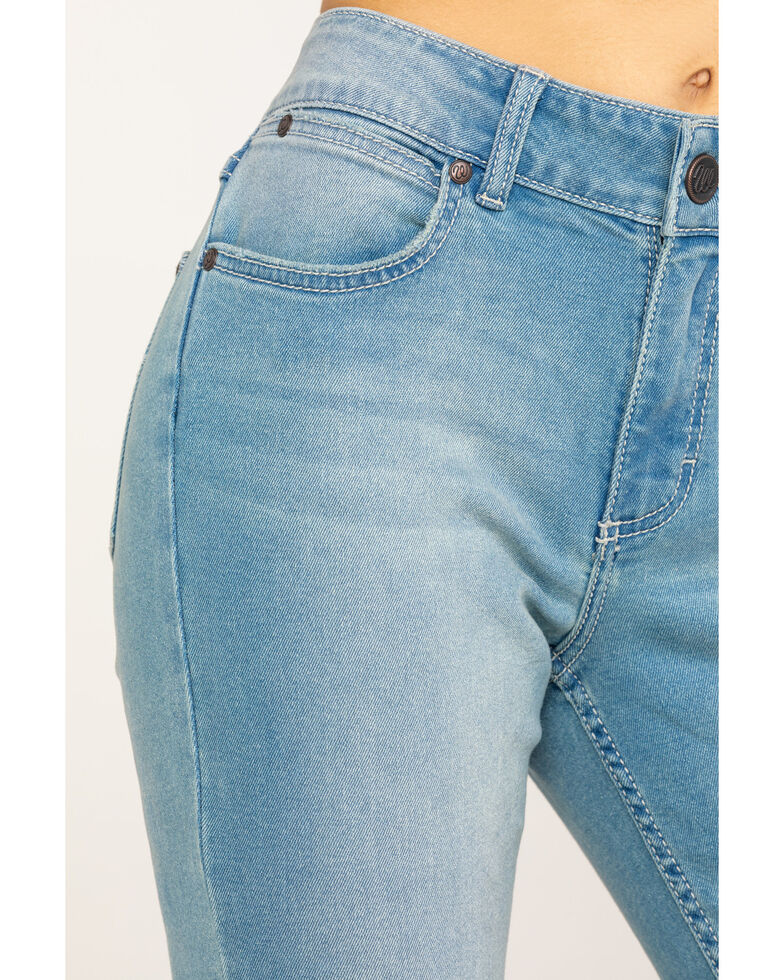 Wrangler Retro Women's Mae Flare Mid Light Flare Jeans , Blue, hi-res