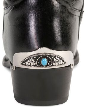 Western Express Fancy Stone Heel Guards, Turquoise, hi-res
