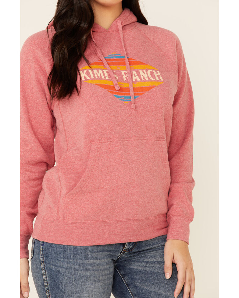 Kimes Ranch Women's Pomegranate El Paso Logo Graphic Hoodie , Red, hi-res