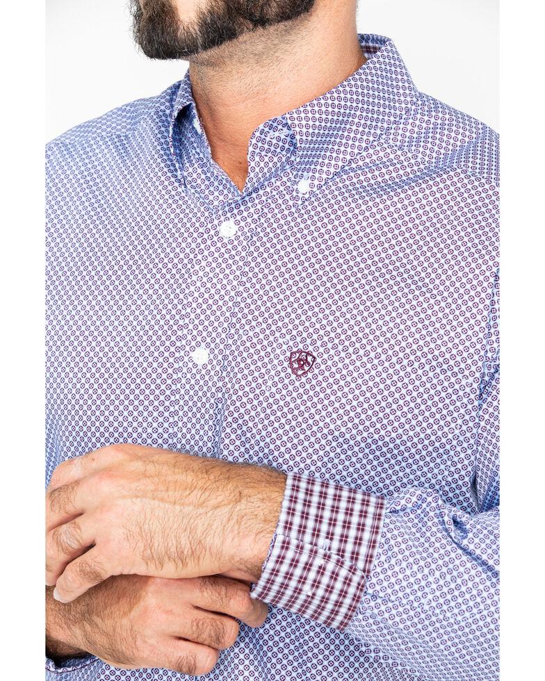 Ariat Men's Zeplin Geo Print Long Sleeve Western Shirt , Blue, hi-res
