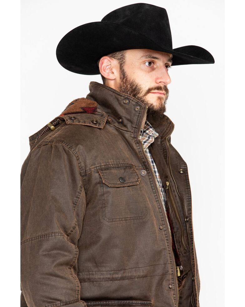 Outback Trading Co. Men's Langston 2-Way Fleece Jacket , Brown, hi-res