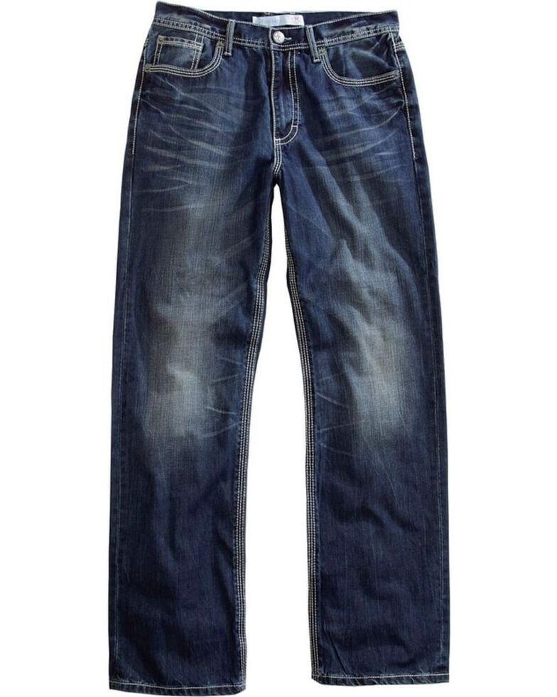Tin Haul Men's Regular Joe Fit Medium Wash Jeans - Boot Cut, Indigo, hi-res