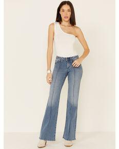 Shyanne Life Women's Mid-Rise Trouser Riding Jeans, Medium Blue, hi-res