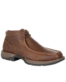 Durango Men's Red Dirt Rebel Chukka Shoes - Moc Toe, Brown, hi-res