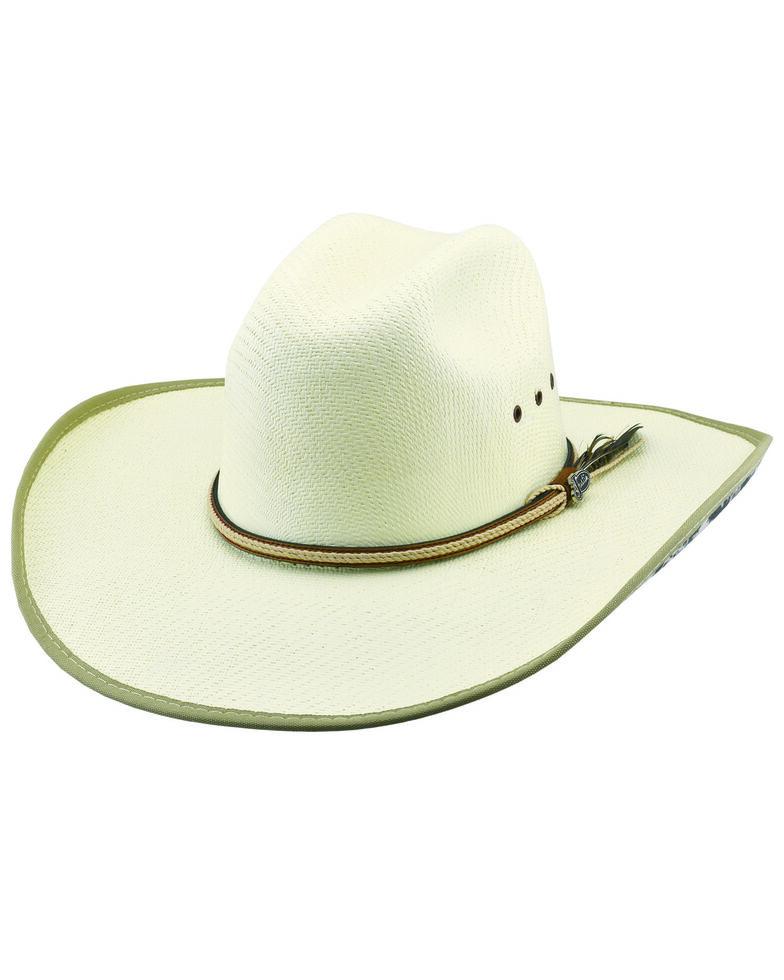 Justin Men's Patriot Tex Straw Western Cowboy Hat , Natural, hi-res