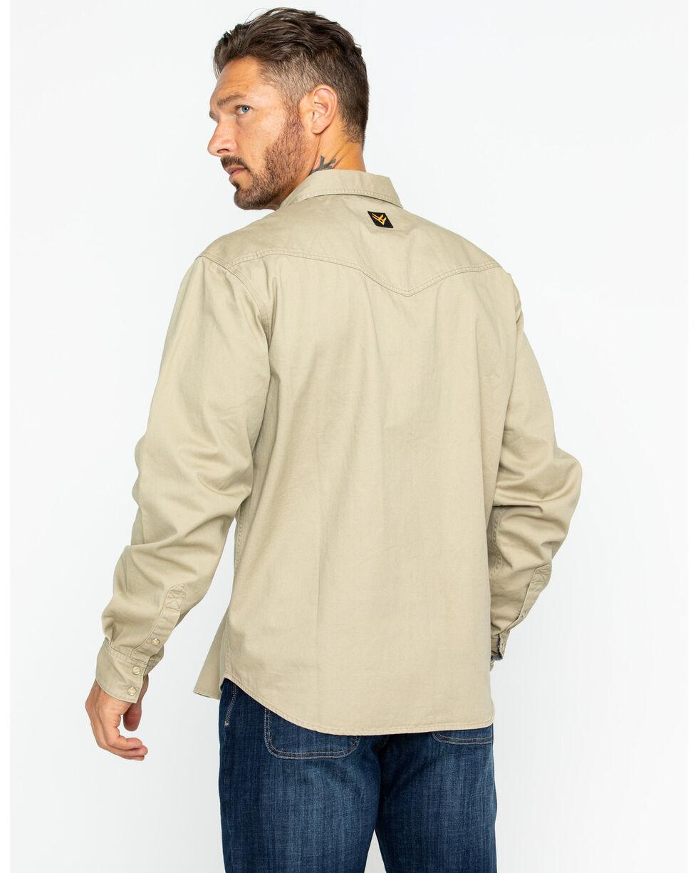 Hawx® Men's Twill Snap Western Work Shirt - Big & Tall , Beige/khaki, hi-res
