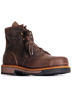 "Silverado Men's Brown 6"" Work Boots - Soft Toe, Brown, hi-res"